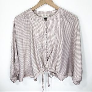 Urban Outfitters Silky Dolman Sleeve Cropped Top